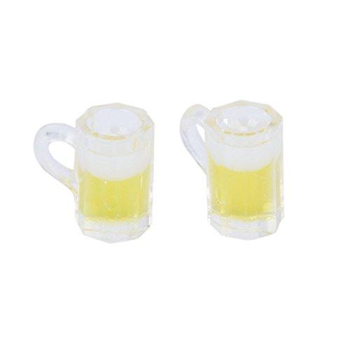 TOOGOO(R) 2pcs Chopes de Biere Miniatures pour Maison de Poupee echelle 1:12