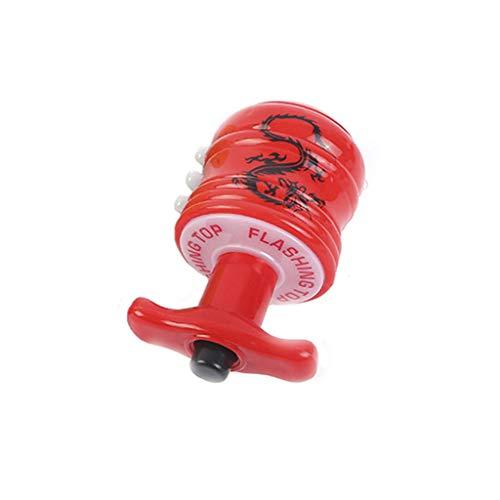 Quaan Lustige LED leuchten kleines Spielzeug Zappeln Stress Relief Geschenk Gyroskop Beleuchtetes Gesangsdrehkreisel-Dekompressionsspielzeug