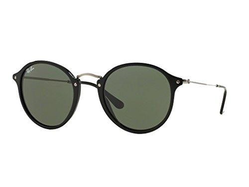 Ray-Ba n Round Fleck-Rahmen Schwarze Gläser grünen-RB244790149-21