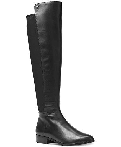 Michael Kors Frauen Bromley Pumps Rund Leder Reitstiefel Schwarz Groesse 7 US /38 EU - Boots Kors Michael