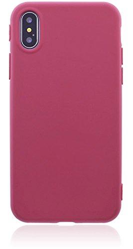Apple iPhone X Hülle Handyhülle   Silikonhülle   Schutzhülle   Bumper   Cover   Case   Tasche   Hülle aus bruchfestem TPU Silikon (Mintgrün) Altrosa