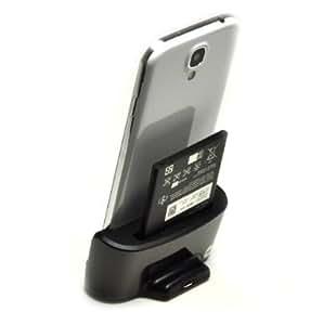 Mondpalast ® Tisch Ständer Ladestation Docking station mit Akkuschacht + 2 x akku 2800mah für Samsung Galaxy S4 GT-i9500 GT-i9505 i9500 i9505