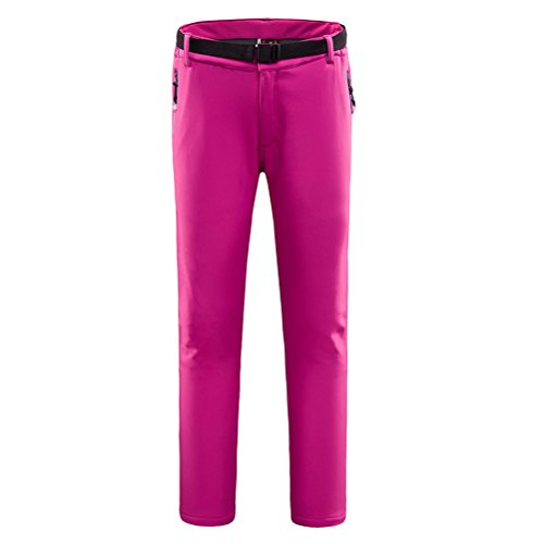 Zhhlaixing Alta qualità Casual Soft Shell Punch Pants Women Resist Cold Windproof Warm Ladies Sportswear Trousers Rose Red