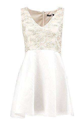 Or Femme Boutique Ava Embroidery Top Skater Dress Or