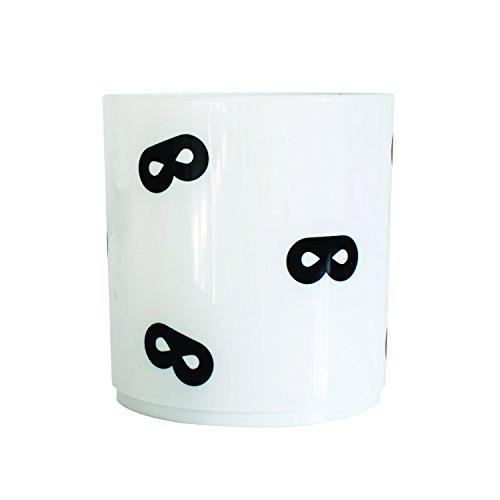 uperheld Maske Design Tumbler Cup–Monochrome und minimalistisches Design (Kleinkind Superhelden)
