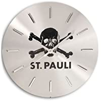 FC.ST Pauli Wanduhr Totenkopf