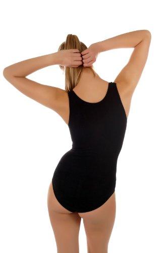 Damen Träger Shape-Body Bodywear / Bauch- und Taillien Former - Unterwäsche, Gr.(34-38), 3600-VKA01 Schwarz