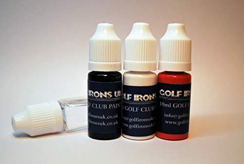 Golf Club Paint, Black-White-Red Plus Cleaning Solution, Paint Fill Numbers Letters, Logos onto Existing Golf Club Graphics -