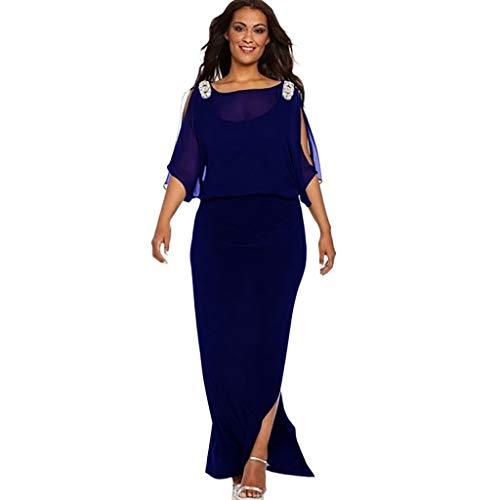 ❤❤ JiaMeng Frauen Sommer Strand Dress Freizeit Elegant Kleider Mode Outdoor Abendkleider lang lässig Kleid für mollige L-XXXXXXL -
