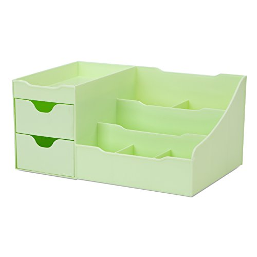 uncluttered-designs-makeup-organizer-with-drawers-green