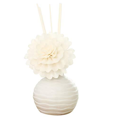 Detrade 30ml Reed Oil Diffusers mit Natürlichen Sticks Keramikflasche und Duftöl Aromatherapie Ätherisches Öl Anzug (D Gardenia) -