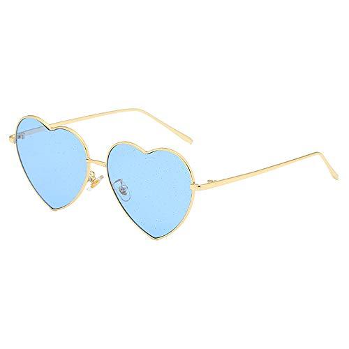 FGKING Vintage Classic Ladies Sonnenbrille, Herz geformte Peach Herz-Sonnenbrille UV400 Resin Lens Sonnenbrille für weibliche Fashionwear Pop Sun Eye Glass,D