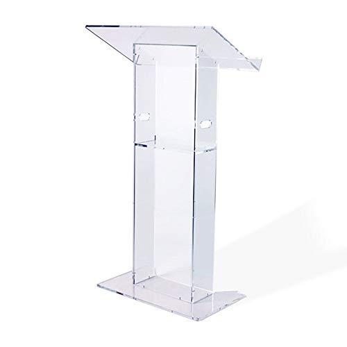 Moderne Acryl Kirche Stil Rednerpult/Podium mit Ablage-Klar Diamant Poliert