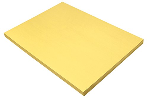 Pacon Sunworks Bau Papier, 45,7x 61cm 100Stück, gelb (8418)