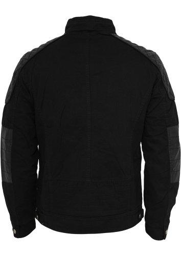 URBAN CLASSICS – Cotton/Leathermix Racer (black) – Jacke - 4