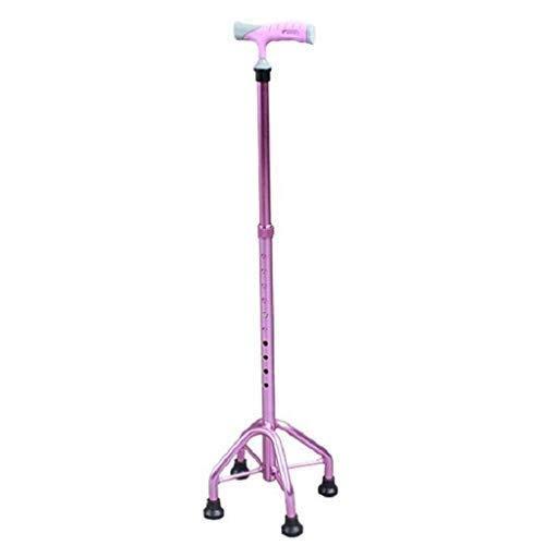 EGCLJ Älterer Quad-Cane - Rutschfester Aluminium-Faltstock - Gehbehinderung - Behinderte, Ältere Menschen - Tragfähigkeit 220 Pfund - Quad Faltbare Cane