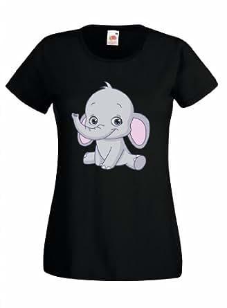 baby elephant big ears wild animal africa safari custom printed t-shirt by crazy clothing