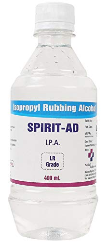 SPIRIT-AD Advita Lifesciences Iso Propyl Alcohol 400 Ml for Home and Hospital Use