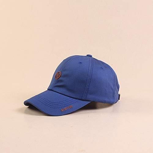 zlhcich Hut weiblichen Sommer Brief bestickte Baseballmütze lässig wild Outdoor Mütze Sonnenhut blau M (56-58cm)