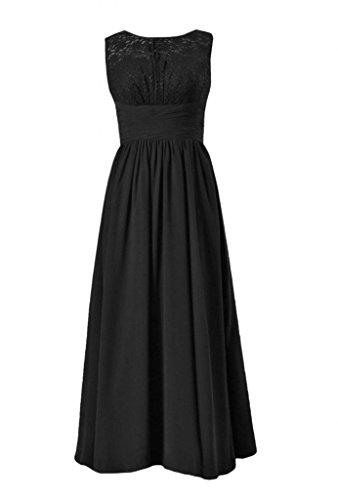 daisyformals dentelle vintage robe de soirée longue en dentelle de mariage Parti robes (bm2529l) Noir - #52-Black