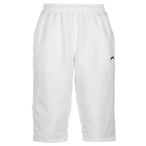 Slazenger Herren-Trainingshose Athletische Jogginghose mit 3 Vierteln Größe Large. weiß -
