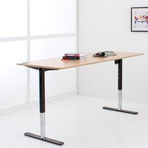 Elektrisch Verstellbarer Schreibtisch mit Tischplatte 200x80cm in Buchen-Optik