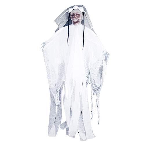 MMLC Halloween Hanging Pirate Dekoration Hexe Gefangener Reaper Ghost Anhänger für Garten und Zuhause (White) (White Reaper Kostüm)