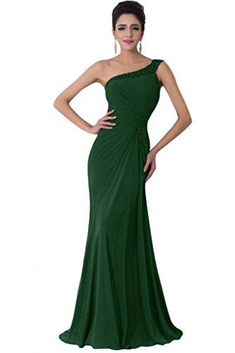 Sunvary Vintage con spalle in Chiffon Prom abiti retro aperto Dark Green