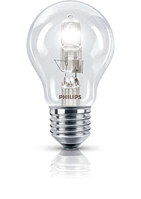 Philips E27 Edison Screw 42 Watt 240 V Halogen EcoClassic Traditional Bulb, Pack of 3
