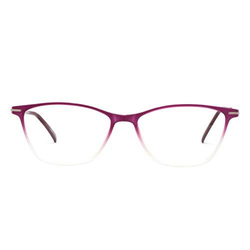 OCCI CHIARI Modische Damenbrillen TR90, rechteckig, mit transparenten Gläsern, Federscharnier Gr. M, Pink(anti-blue Light)