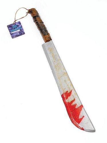 Bristol Novelty BA140Jumbo Machete mit Blut Spritzen, mehrfarbig, -