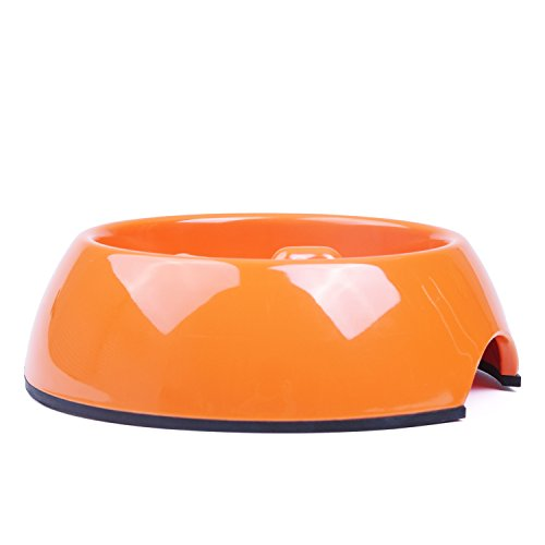 SuperDesign-Heavy-Duty-Melamine-Non-skid-Slow-Feed-Pet-Bowl-For-Dogs-and-Cats-140ml-Orange