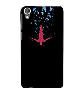 EPICCASE Falling Man Illustion Mobile Back Case Cover For HTC Desire 820 (Designer Case)