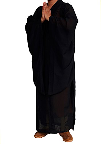 Shaolin Unisex Monk Monk Kung fu Robe Costume Long Gown Suit Test