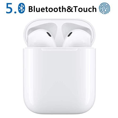 Auricolari Bluetooth, Hi (Hurricane) Cuffie Bluetooth 5.0 Auricolari Wireless Stereo Senza Fili Sportivi in Ear con Custodia da Ricarica,TWS Mini Cuffie per Samsung iPhone Huawei Sony Xiaomi-2