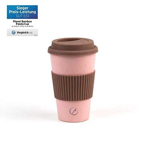 Planet Bamboo ♻ Coffee-to-Go-Becher aus Bambus (400 ml | Mara Cuja) Nachhaltiger Kaffeebecher für Unterwegs