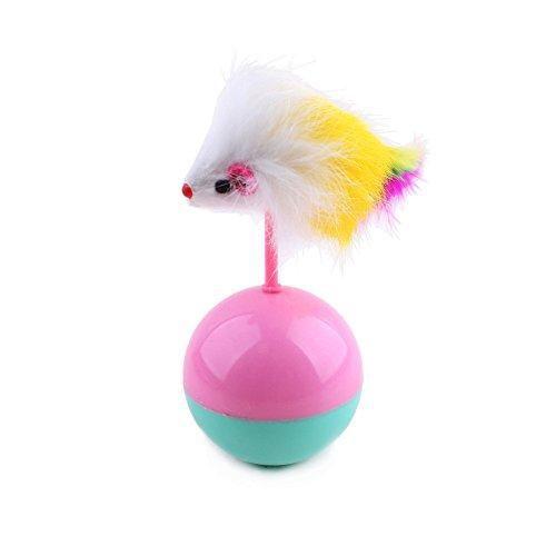 XZANTE Dauerhaft Haustier Katze Spielzeug Mimi Lieblings Fell Maus Becher Plastikspielzeug Baelle Fuer Katzen Hunde Spielen Spielzeug