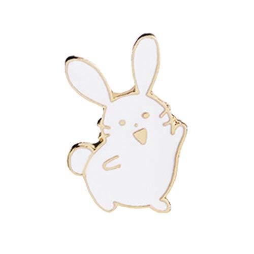 tanbuhu Tanbubu Niedlichen Cartoon Kaninchen Brosche Emaille Denim Rucksack Abzeichen Schmuck Geschenk Für Frauen Weiß -