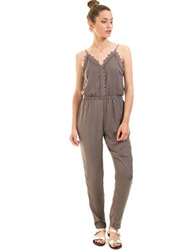 VILA CLOTHES Damen Vilany Jumpsuit, Grau (Granite Grey) - 2