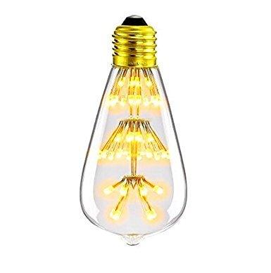 BOHMAIN E27 Sternlicht Glühlampe für Kinder 6W LED Glühbirne 2300K Stimmung-, Innen- und Energiesparlampen für Zuhause, Café und Restaurantsbeleuchtung-Warmweiß