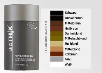 - Faser (Biothik Haaraufbau-Faser S4 hellbraun 15 g)
