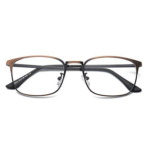 YMTP Square Myopie Spectacle Brillengestell Für Männer Und Frauen Gläser Ohne Grad Objektiv Frauen Frames Grad Brille, Bronze