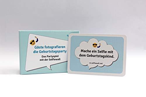 Selfiewall 100 Karten, lustige Fotoaufgaben, Spiel für Geburtstagsparty, Runder Geburtstag