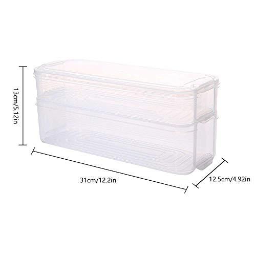 LABAICAI Kunststoff Lagerplätze Kühlschrank Aufbewahrungsbox Frischhaltedose mit Deckel for Küchenschrank Gefrierschrank Schreibtisch Veranstalter (Color : Double Layer)