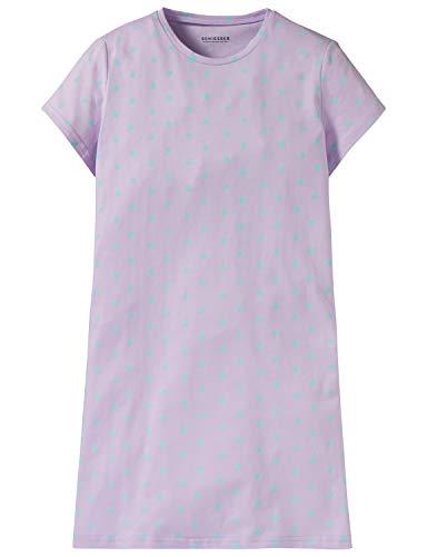 Schiesser Mädchen Sleepshirt 1/2 Nachthemd, Blau (Lavendel 809), 176 (Herstellergröße: L) -