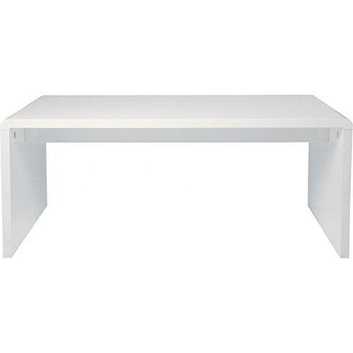 Kare Design Schreibtisch White Club, Computertisch, PC Laptoptisch, Weiß (H/B/T) 76x180x85cm
