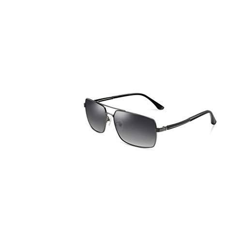 RJYJ Klassische Klassische Polarisierte Sonnenbrille, Herren-Sonnenbrille, PC-Linse, Polarisiert, Strahlungsfrei, UVA-beständig, UVB-beständig, UV-Schutz (Color : Gray)