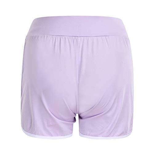 Clacce Umstandsshorts/Umstandshose Kurze mit Bauchband für Sommer Frauen Mutterschaft Sommer Stretch Wear Schwangere Frauen solide Sport Shorts