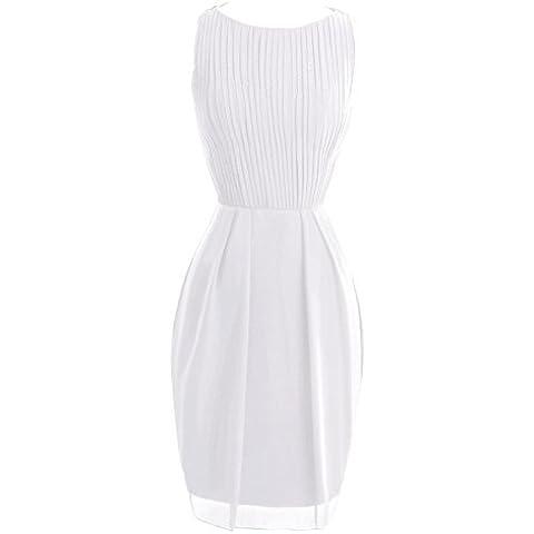 Orient Bride Funda de corto gasa baile madre de novia vestidos blanco blanco 48