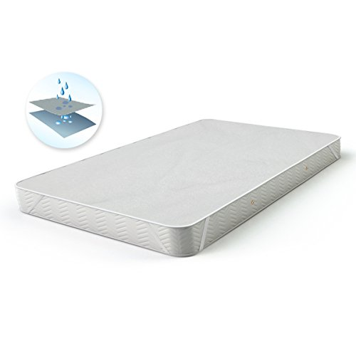 Natürliche Matratzenauflagen (ECD Germany Matratzenauflage - wasserdichter Matratzenschoner mit Inkontinenzschutz - 200 x 200 cm - natürliche, atmungsaktive Baumwolle - mit 4 Eckgummis - auch für Wasserbetten geeignet)